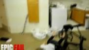 Chair Jump Fail