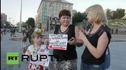 Ukraine: Donbass protesters demand safe transit through Ukraine