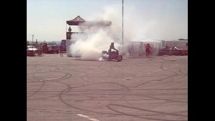 burnout с мотор