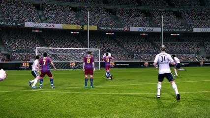 Добър гол на Iniesta na pes 11