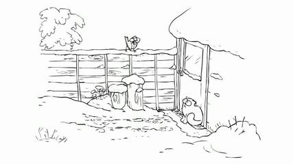 Simons Cat in Snow Business * H Q *