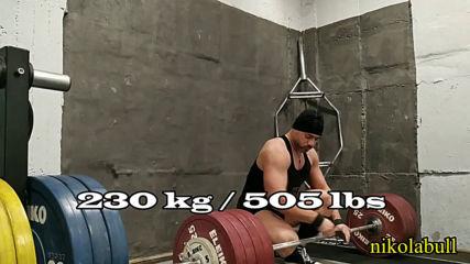2019.12.25 - Workout V-B - DL 3x216 kg / SH 5x170 kg