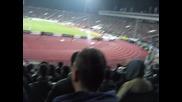 Лудогорец - Лацио 3:3 (27.02.2014г.) - Фенове на Левски подкрепят отбора на Лацио.