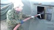 Войнишка баня някъде в Русия