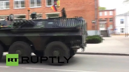 Lithuania: Tanks and APCs flood Siauliai's streets for NATO 'Saber Strike- 2015' drills