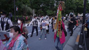 Japan: Dozens march around Tokyo Olympic Stadium to protest against 2020 Games