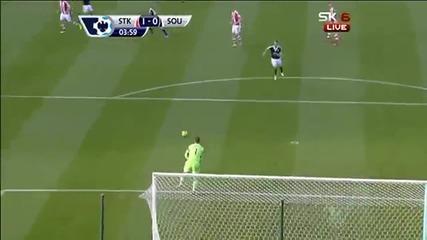 Асмир Бегович постави рекорд за най-бързо отбелязан гол от вратар в английската висша лига