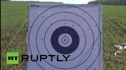 Russia: Victory Day rifle duel sees Russian model victorious over German rival