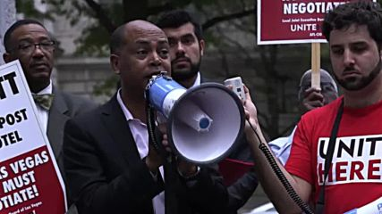 USA: Labour unions picket Trump's D.C hotel