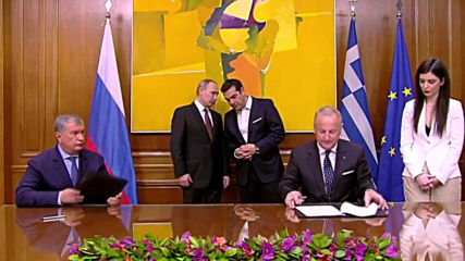 Greece: Putin and Tsipras oversee signing of multiple agreements