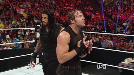 raw 9th june, 2014 the shield have a message for seth rollins
