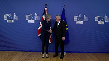 Belgium: 'Is this hell?' - May greeted by Juncker for talks on Brexit deal changes