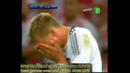 Германия смаза с втория си гол за 1 - 0 срещу Полша!!!ЕВРО 2008 - 8.06.2008 HQ