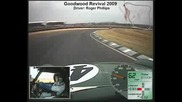 Goodwood Revival 2009 classic mini in - car race video - Roger Phillips driving (3/3)