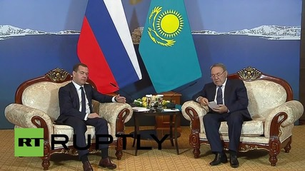 Kazakhstan: Medvedev and Nazarbayev talk economic ties in Burabay