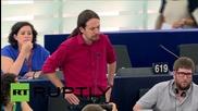 "France: German ""totalitarianism"" threatens Europe, not Syriza - Podemos' Iglesias"