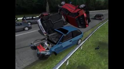 Rfactor Honda Civic crash test