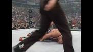 Eugene Се Опитва Да Бие Kurt Angle С Хватки на The Rock, Stone Cold и самия Kurt Angle. Дали му се п