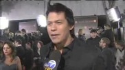 Chaske Spencer on the red carpet at Twilight Saga New Moon premiere in La