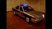 Diecast Police Car In 1:18 Scale