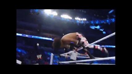 Xavier Woods - Slingshot Somersault Plancha