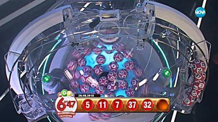 """Теглене на играта """"Лото 6 от 47"""" - 20.08.2018г."""