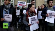 UK: Pro-Palestine activists protest against BBC's coverage of Palestine violence