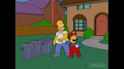 Homer Simpson Vs Super Mario