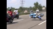 Лошо падане с мотор с над 100 km/h