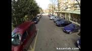 Разходка с дрон по Скобелевска в Казанлък