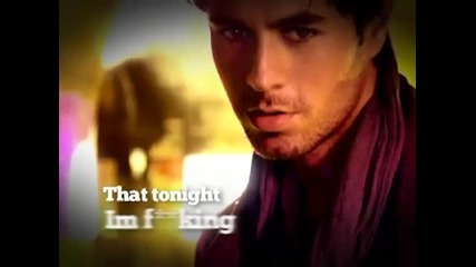 * текст и превод * Enrique Iglesias - Tonight ( I'm Fuckin' You )