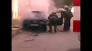 Автомобил Изгоря В Ловеч