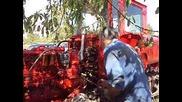 Опити за запалване на пусковия двигател на трактор Дт - 75