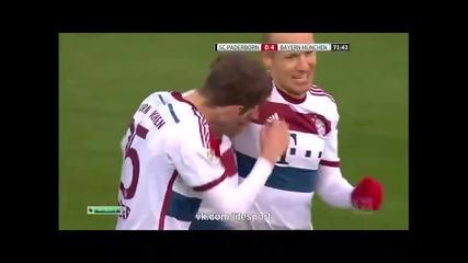 21.2.2015 Падеборн-байерн Мюнхен 0-6 Бундеслига