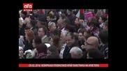 Освиркаха Плевнелиев край паметника на Апостола /20.02.2016 г./