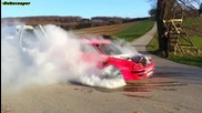Audi 90 20v Turbo Quattro Burnout