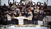 Футболистите на Ювентус пеят We Wish you a Merry Christmas