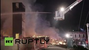 Унищожена сграда след погромите в Балтимор