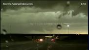 Запис от излъчването на живо на бурята в Канзас 31.8.2014