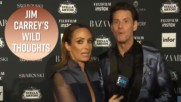 Jim Carrey said the same weird stuff to E! in Venice