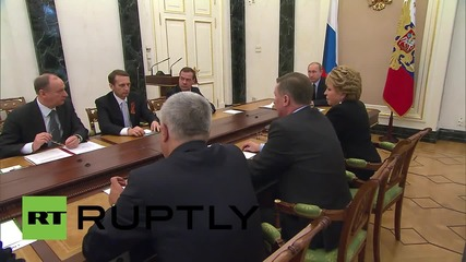 Russia: Putin holds Security Council meeting to discuss V-Day preparations