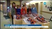 Облякоха новородени в цветовете на футболен отбор в Денвър