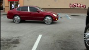 Chevy Silverado 3500hd Dually Lifted on 24`s Lexus Gs 300 on Dub 24`s - 1080p