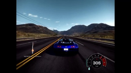 Need for Speed Hot Pursuit - Buggati Veyron Speed Test