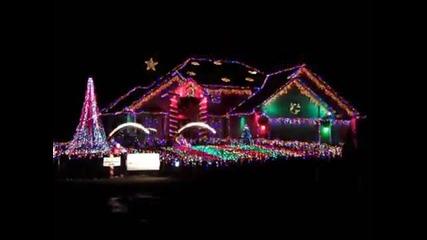 Коледно шоу със светлини