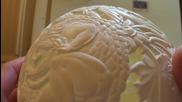 Черупката на Дявола - гравиране на щраусово яйце