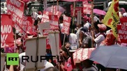 Philippines: Anti-US protesters clash with police outside American embassy