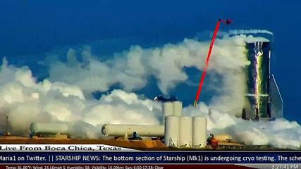 Инцидент на ракетата на Space X, която ще води хора до Марс