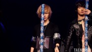 110220 - [fancam] Shinee Taemin piles up coffee cans #1 @ Santafe Special Event