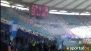 Вижте хореографията на феновете на Лацио преди дербито с Рома